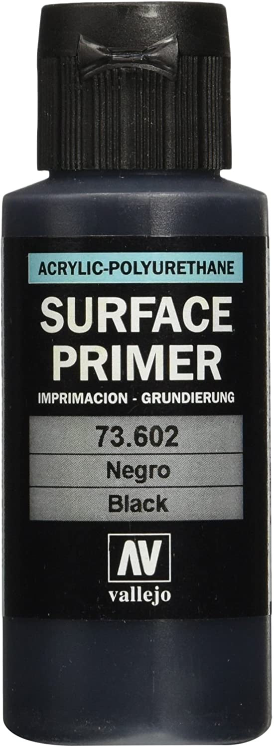 Vallejo Acrylic Polyurethane - Surface Primer Black 60ml