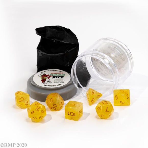Pizza Dungeon Dice Lucky Gem Yellow