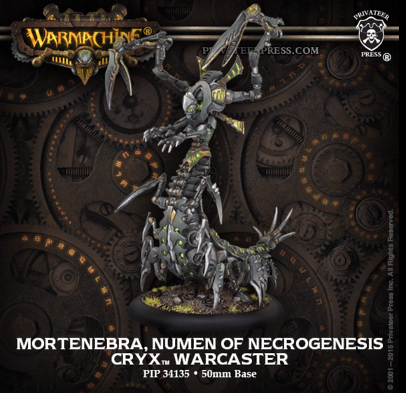 Mortenebra. Numen of the Necrogenesis - Cryx Warcaster (metal/resin)