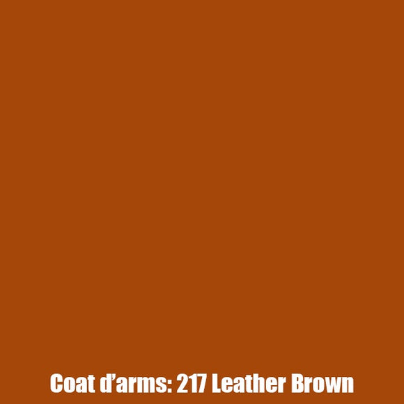 217 - Leather Brown Coat D'Arms
