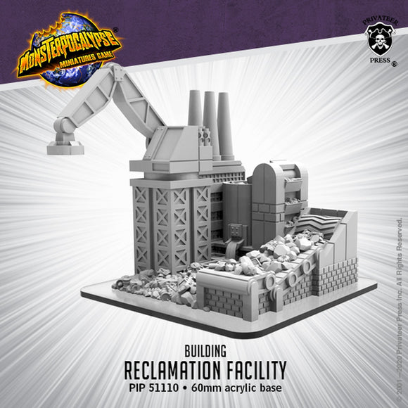Monsterpocalypse Reclamation Facility Building (Resin)