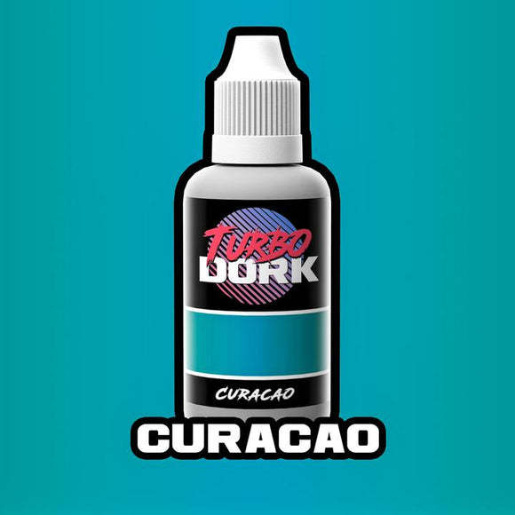 Turbo Dork Curacao Metallic Acrylic Paint - 20ml Bottle - Game State Store