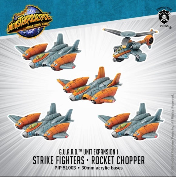 Monsterpocalypse, Strike Fighters & Rocket Chopper: G.U.A.R.D. Unit (resin)