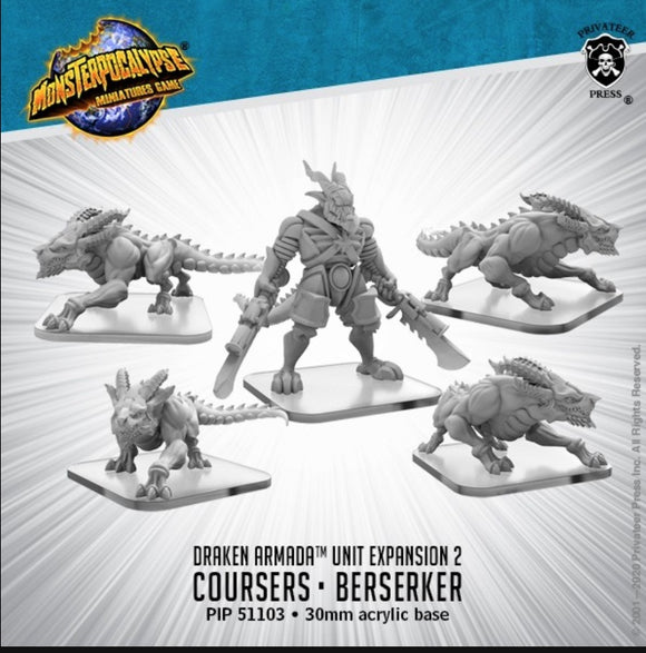 Monsterpocalypse Coursers, Elite Courser Draken Berserker Draken Armada (resin)