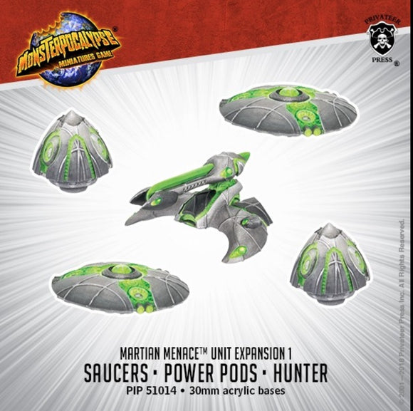 Saucers, Power Pods & Hunter Monsterpocalypse Martian Menace Units (resin)