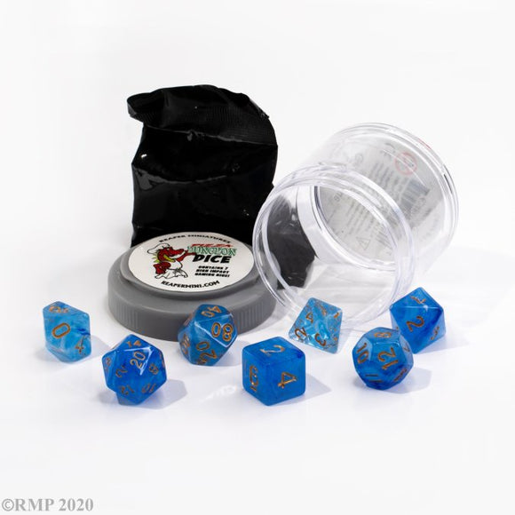 Pizza Dungeon Dice Lucky Gem Blue