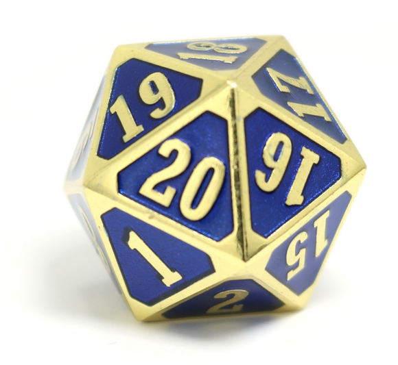 Die Hard Dice MTG Roll Down Counter - Shiny Gold Sapphire
