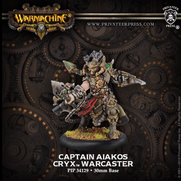 Captain Aiakos - Cryx Warcaster (metal)