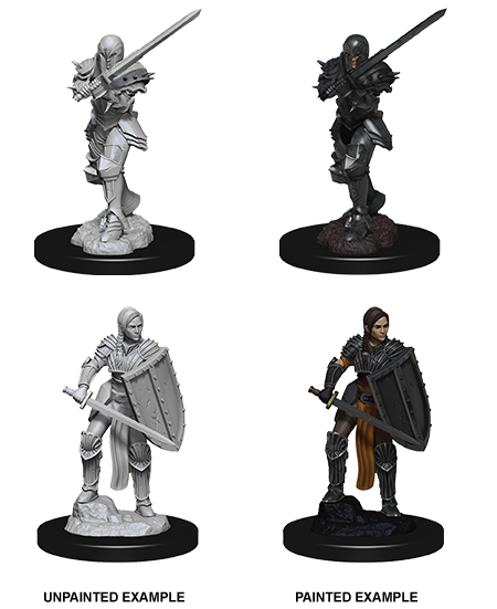 DND UNPAINTED MINIS WV9 FEMALE HUMAN FIGHTER (144)