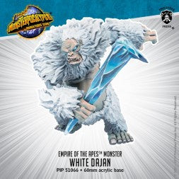 White Dajan – Monsterpocalypse Empire of the Apes Monster (resin) - Game State Store