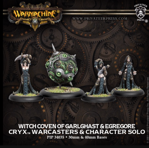 The Witch Coven of Garlghast & Egregore - Cryx Warcasters & Character Solo