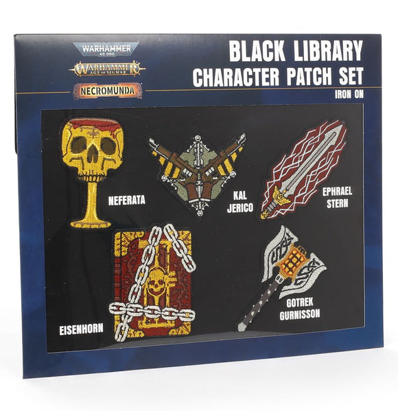 WH Special Releases Black Library Character Cloth Patch Set