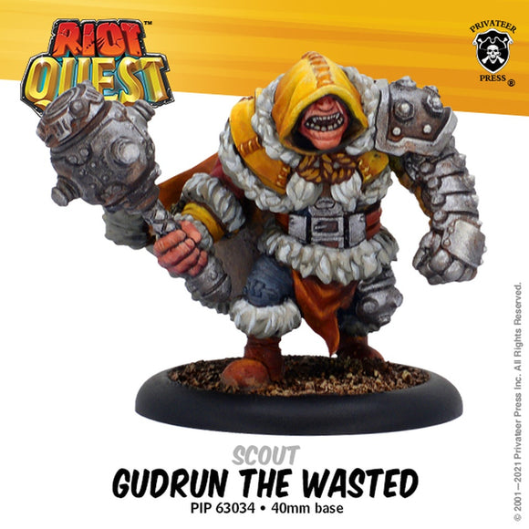 Riot Quest Gudrun the Wasted Fighter (Resin)