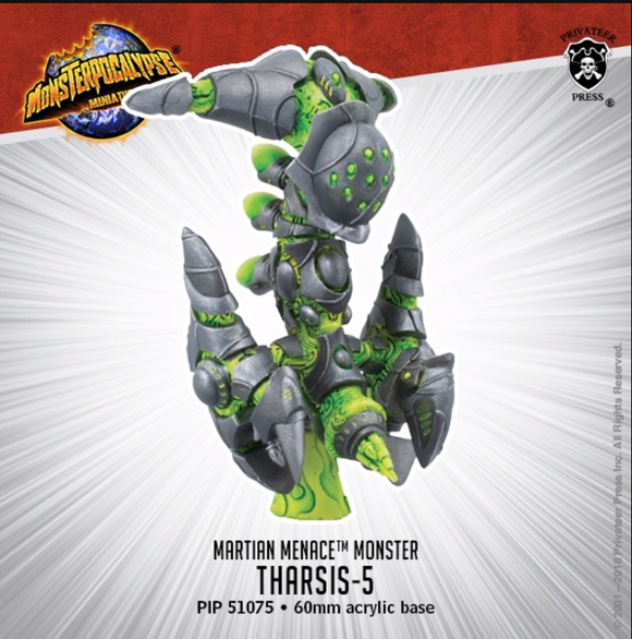 Tharsis-5 – Monsterpocalypse Martian Menace Monster (metal/resin)
