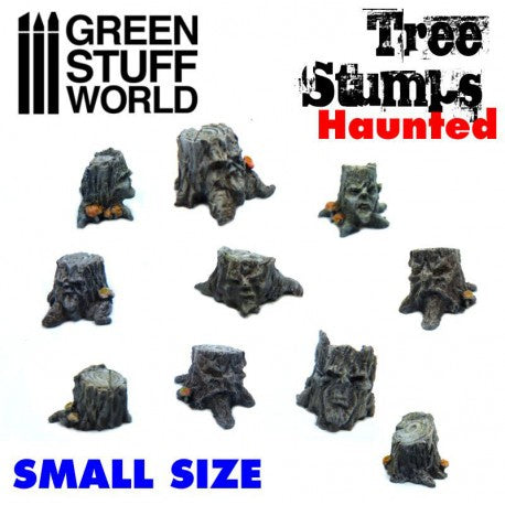 GSW Small Haunted Tree Stumps Resin Set