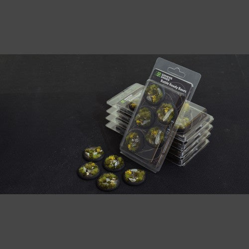 Battle Ready Bases: Highland Round Lip 40mm (x5) - Game State Store