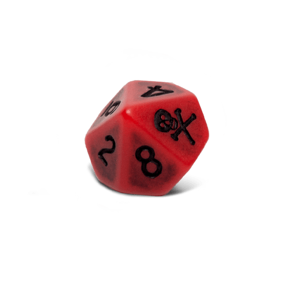 Blood D10 Dice Set