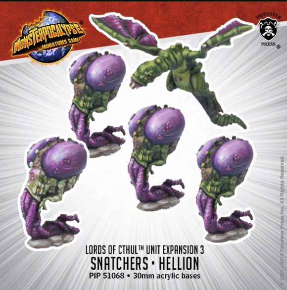 Snatchers & Hellion – Monsterpocalypse Lords of Cthul Units (metal)
