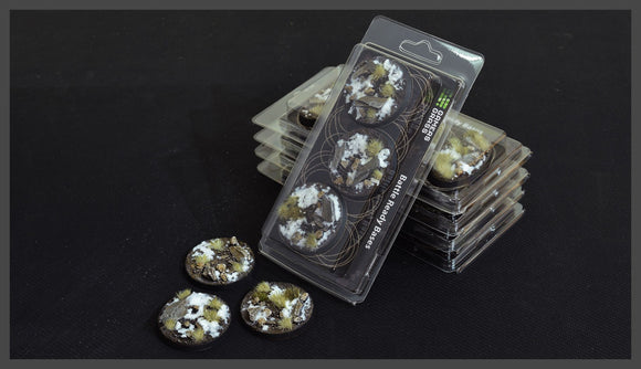 Battle Ready Bases: Winter RoundLip 50mm (x3) - Game State Store