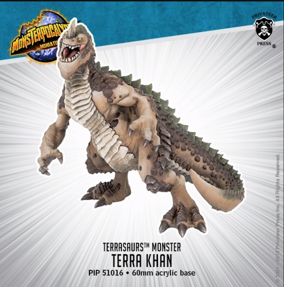 Terra Khan – Monsterpocalypse Terrasaur Monster (resin)