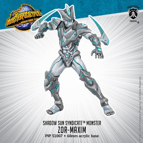 Monsterpocalypse, Zor-Maxim: Shadow Sun Syndicate Monster (metal/resin) - Game State Store