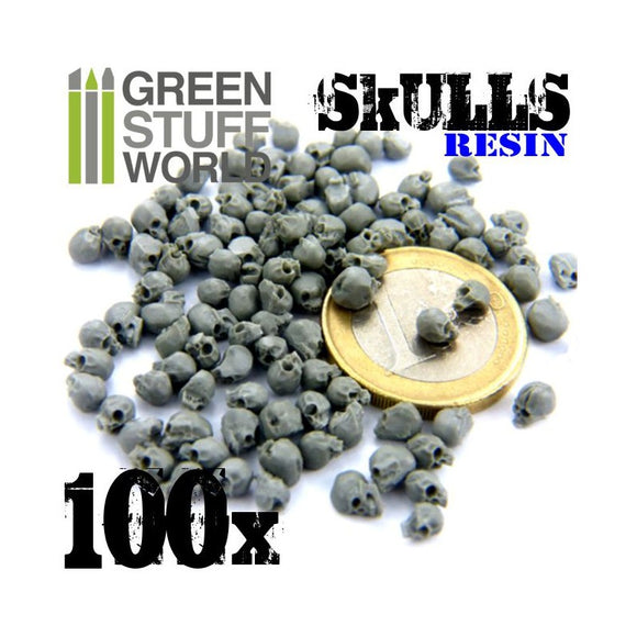 GSW - 28mm Human Skulls Resin Set 100pcs