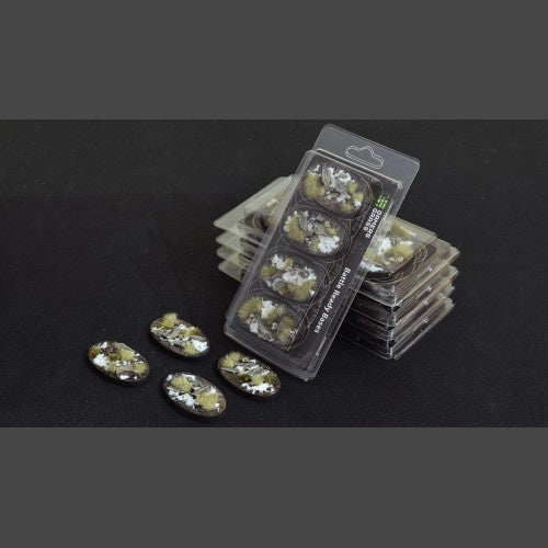 Battle Ready Bases: Winter Oval 60mm (x4) - Game State Store