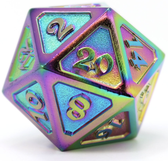 Die Hard Dice Dire d20 - Mythica Scorched Rainbow