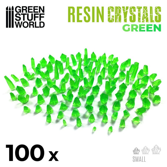 GSW - Small Green Crystals Resin Set
