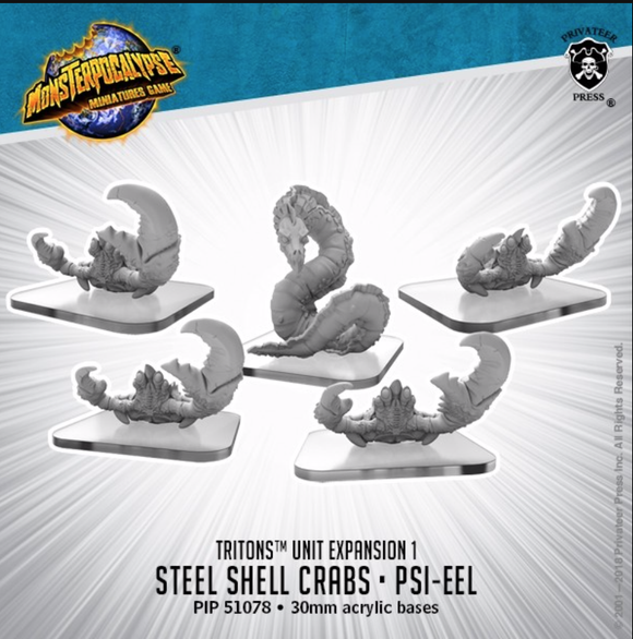 Steel Shell Crabs & Psi-Eel - Triton Unit (metal)