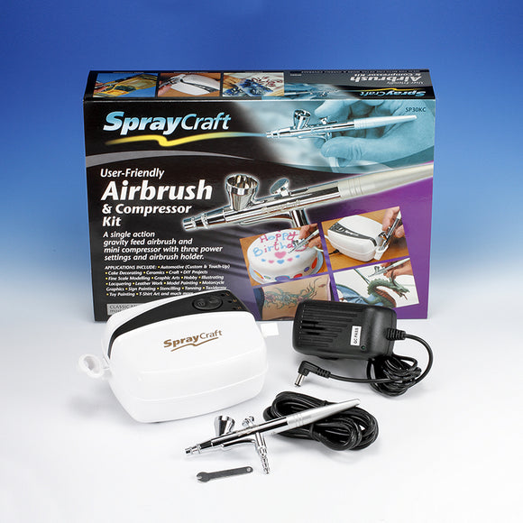 SPRAYCRAFT Airbrush & Compressor Kit (Top feed, Single action)