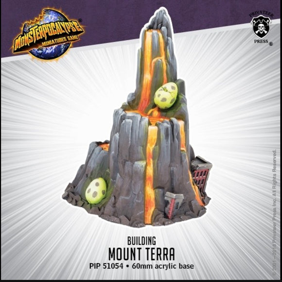 Mount Terra – Monsterpocalypse Building (resin)