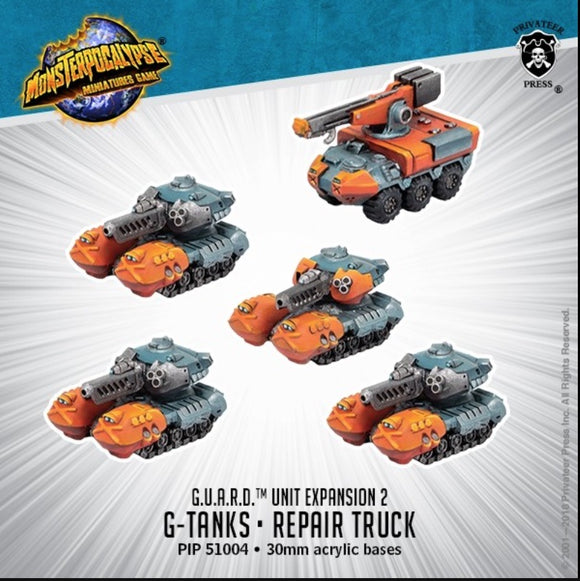 Monsterpocalypse, G-Tanks & Repair Truck: G.U.A.R.D. Unit (resin)