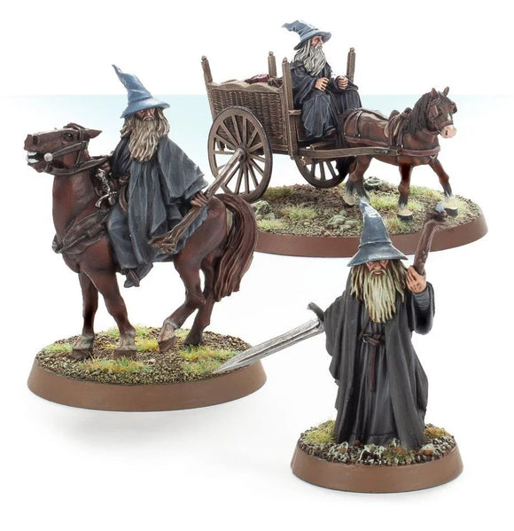 Web Order Gandalf the Grey Foot, Mounted and on Cart