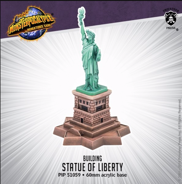 Statue of Liberty Monsterpocalypse Building (resin)