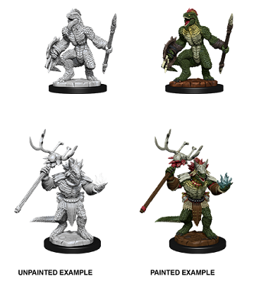 DND UNPAINTED MINIS WV12 LIZARDFOLK AND SHAMAN