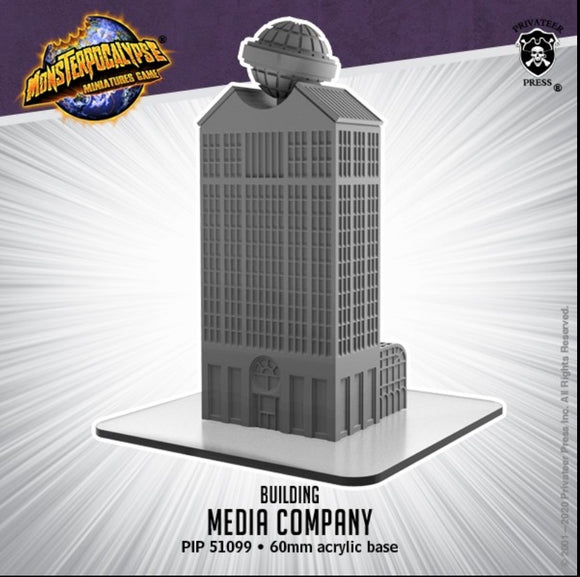 Monsterpocalypse Media Company Building (resin)