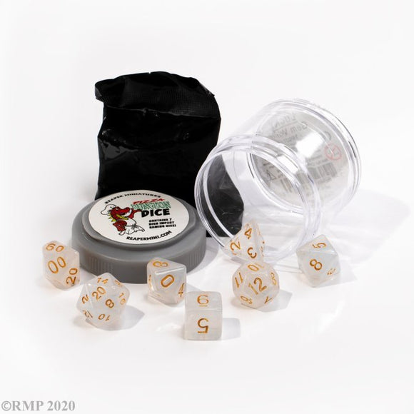 Pizza Dungeon Dice Lucky Gem White