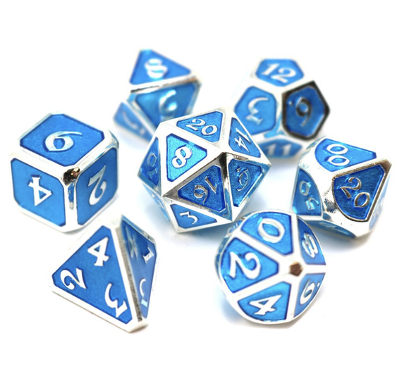 Die Hard Dice Mythica Platinum Aquamarine