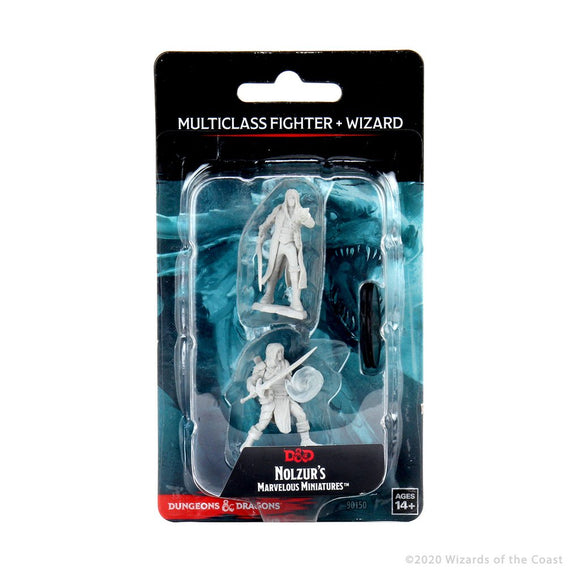 DND UNPAINTED MINIS WV13 MULTICLASS FIGHTER + WIZARD MALE (144)