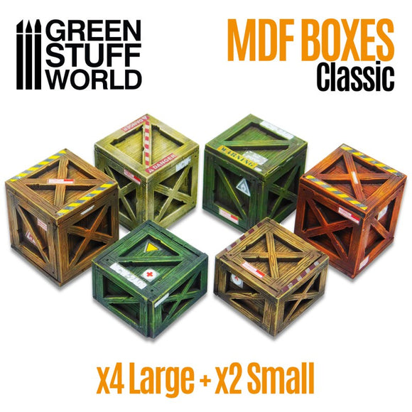 GSW MDF Boxes Classic x4 Large And x2 Small