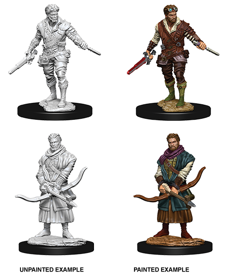 DND UNPAINTED MINIS WV9 MALE HUMAN ROGUE (144)