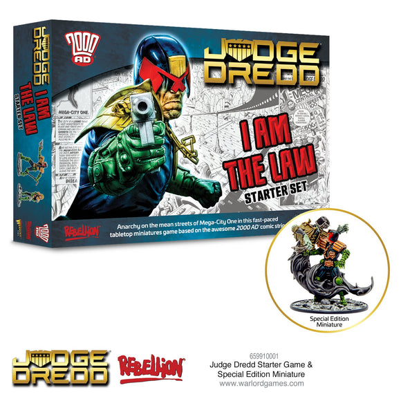 Judge Dredd Starter Game I Am The Law! (with limited Edition Miniature)