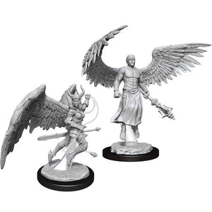 DND UNPAINTED MINIS WV13 DEVA AND ERINYES (144)