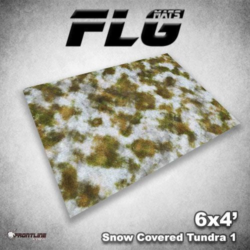 Frontline Gaming Mats: Snow Covered Tundra v1 4x6'