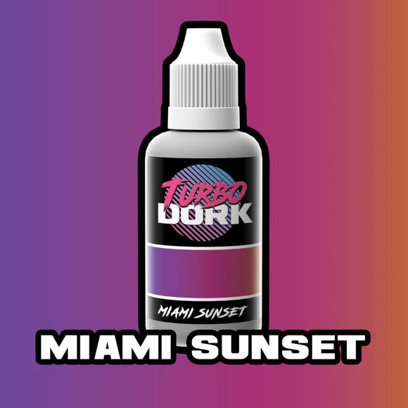 Turbo Dork Miami Sunset Colorshift Acrylic Paint - 20ml Bottle - Game State Store