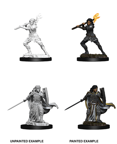DND UNPAINTED MINIS WV10 FEMALE HUMAN PALADIN (144