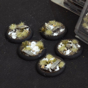 Battle Ready Bases: Winter Round Lip 40mm (x5) - Game State Store