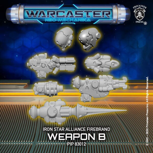 Warcaster Iron Star Alliance Firebrand B Weapoon Pack