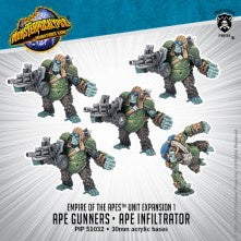 Ape Gunners & Ape Infiltrator ' Monsterpocalypse Empire of the Apes Units (metal) - Game State Store